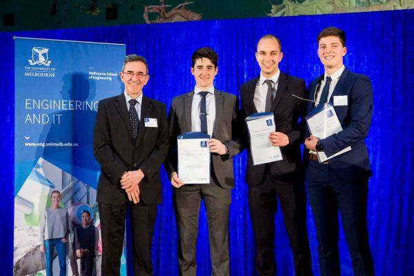 IEEE Award presented by Robert Slaviero. Project: Window Washing Drone. Team: Edward James, Matthew Knight, Matthew Walker
